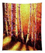 Sunlight Through The Aspens Tapestry