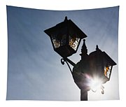 Sunlit Jewels - Stained Glass Lamps And Sunburst Right Tapestry