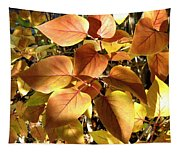 Sunlit Lilac Leaves Tapestry