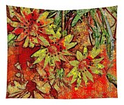Sunny Day Yellow Daisies  Tapestry