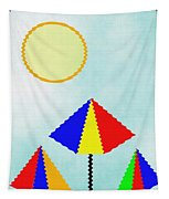 Sunny Days At The Beach Tapestry