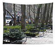 Sunny Morning In The Park Tapestry