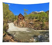 Sunny Skies Over The Crystal Mill Tapestry