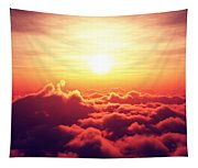 Sunrise Above The Clouds Tapestry