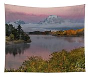 Sunrise At Oxbow Bend Tapestry