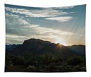 Sunrise At Sabino Canyon Tapestry