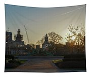 Sunrise At Swann Fountain Tapestry
