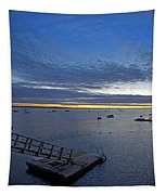 Sunrise At The Barnstable Yacht Club Tapestry