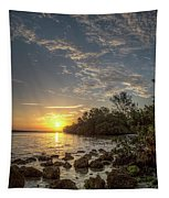 Sunrise At The Sunshine Skyway Tapestry