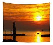Sunrise Brushstrokes Tapestry