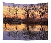 Sunrise Lake Reflections Tapestry