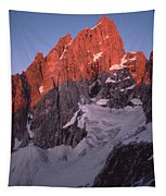 1m9380-sunrise On Grand Teton  Tapestry