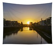 Sunrise On The Liffey River - Dublin Ireland Tapestry