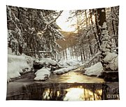 Sunrise On The River Tapestry