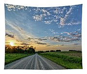 Sunrise On The Road Tapestry