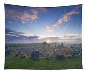 Sunrise Over Beaghmore Stone Circles Tapestry