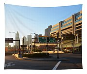 Sunrise Over Haymarket Station In Boston Tapestry