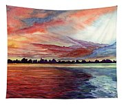 Sunrise Over Indian Lake Tapestry