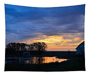 Sunrise Over The Pond Tapestry