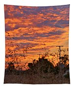 Sunrise Over The Wheat Fields Tapestry
