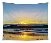 Sunrise Seascape And Crepuscular Rays Tapestry