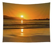 Sunrise Seascape With The Sun Tapestry