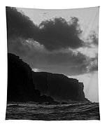 Sunrse And Cliffs In Black And White Tapestry by Jim Thompson