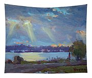 Sunset After The Rain Tapestry