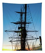Sunset Ahoy Tapestry