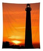 Sunset At Barnegat Lighthouse Tapestry