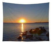 Sunset At Cape May Beach Tapestry