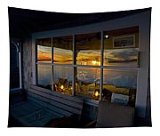 Sunset At Fletchers Camp Tapestry