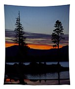 Sunset At Lake Almanor Tapestry