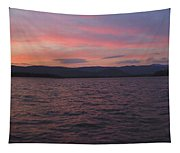 Sunset At Squam Lake New Hampshire Tapestry