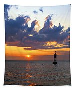 Sunset At The Bell Buoy Tapestry