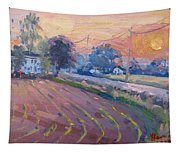 Sunset At The Farm Tapestry