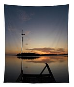 Sunset At The Gulf Of Bothnia  Tapestry