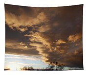 Sunset At The New Mexico State Capital Tapestry