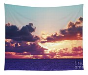 Sunset Behind Clouds Tapestry