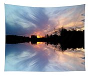 Sunset Brushstrokes Tapestry