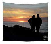 Sunset California Coast Tapestry