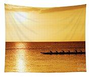 Sunset Canoe Tapestry
