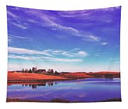 Sunset Clouds Over Wyoming Tapestry