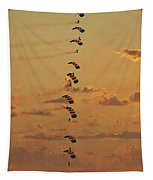 Sunset Falcons Stack Formation Tapestry