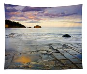 Sunset Grid Tapestry