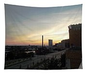 Sunset In Cleveland Tapestry