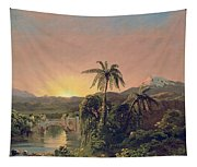Sunset In Equador Tapestry