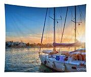 Sunset In Kos Tapestry