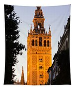 Sunset In Seville - A View Of The Giralda Tapestry