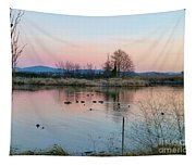 Sunset In Union Bay Tapestry